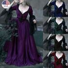Victorian Style Gothic Dress Women Evening Vintage Dress Cosplay Costume