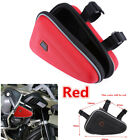 Red Triangle Saddle Storage Bag Engine Guard Bar Case Pouch For Motorcycle ATV