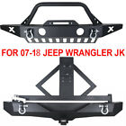 Front Rear Bumper Tire Carrier Skid Plate Hitch Fits 07 18 Jeep JK Wrangler US