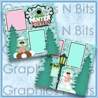 WINTER NIGHTS Printed Premade Scrapbook 2 Page Layout