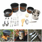 New Aluminum Outdoor Camping Cookware Cooking Picnic Bowl Sets For 3 4 People