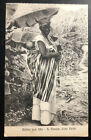 Mint St Vicent Cabo Verde Portugal Real picture Postcard Native Woman