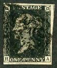 Penny Black HA Plate 9 fine three margins