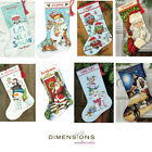 Dimensions Counted Gold Cross Stitch Kit Christmas Stocking Santa Snowman