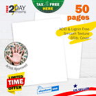 50 Psc Cardstock Paper 85x11 White Premium Quality Card Stock Sheets Crafting