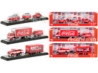 AUTO HAULERS COCA COLA 3 PIECE SET GREAT RELEASE 1 64 DIECAST BY M2 56000 TW01