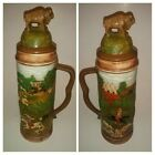 Vtg Duncan Enterprises Native American Hand Painted Hunt Scene Extra Large Stein