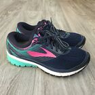 CLEAN Brooks Ghost 10 Women Running Shoe Sz 7 Blue Pink Workout Gym Hike Trail