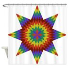 CafePress Native Stars Decorative Fabric Shower Curtain 69x70 1590176030