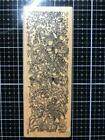 New Vintage PAPER PARACHUTE rubber stamp FLORAL BORDER FLOWERS free USA ship