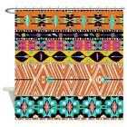 CafePress Native01 FINAL Decorative Fabric Shower Curtain 69x70 1281902898