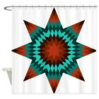 CafePress Native Stars Decorative Fabric Shower Curtain 69x70 1590178740