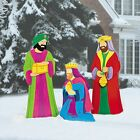 Three Kings Nativity Scene Outdoor Christmas Decorations Yard Dcor Metal Set