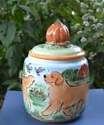 Golden Retriever Handsculpted ceramic cookie jar OOAK LOOK