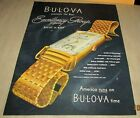 BULOVA WATCHES Orig1 Page Magazine Ad 1946 EXCELLENCY GROUP THE TUXEDO