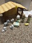 2002 Avon Precious Moments Nativity Playset Christmas Bethlehem Creche Children