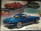 Vintage 1965 Monogram 1/8 Scale Corvette Sting Ray Kit, Partially Assembled.