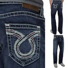 Mens Big Star Vintage Jeans Mid Rise Pioneer Embroidered Bootcut Jean 34R