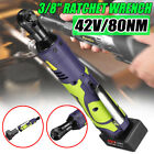 121842v 38 Cordless Electric Ratchet Wrench Tool With Charger Kit Battery