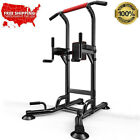 Dip Station Chin Up Tower Rack Pull Up Weight Stand Bar Raise Workout Gym Home