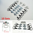 10Pcs Motorcycle Quick Release D-RING 1/4 Turn Race Fairing Fasteners Rivet 17mm