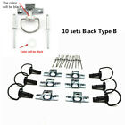 10x Black Motorcycle Quick Release D-RING 1/4 Turn Race Fairing Fasteners Rivet