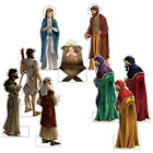 Christmas Nativity Set Decorations Life Size Display Cardboard Cutouts Props