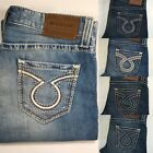 Mens Big Star Vintage Jeans Mid Rise Pioneer Embroidered Bootcut 32 33 34 36 38