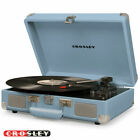 Crosley Cruiser Deluxe 3 Speed Turntable w Bluetooth Light Blue CR8005D NEW
