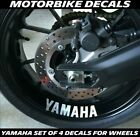 FOR YAMAHA WHEEL DECALS STICKERS X 4 MT  YZF R1 R6 M1 THUNDER R125 MANY COLOURS