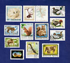 BIRD CAT WILD ANIMAL VINTAGE STAMP STAMPS LOT MAGYAR HUNGARY combined shipping