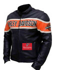 Harley Davidson Biker Genuine Leather Jacket Victoria Lane Style Motorcycle Top
