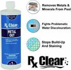 Rx Clear Swimming Pool  Spa Metal Out Chemical 1 Quart Bottle Choose Size