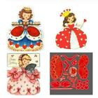 Princess Girl Metal Cutting Dies Scrapbooking Decorations Craft Card Stencil