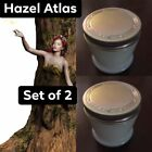 Hazel Atlas Vintage Milk Glass Jar with Original Metal Lid