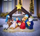 Inflatable Light Up Nativity Scene 6 ft tall Outdoor Christmas Decorations NEW