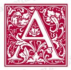 Unmounted Classic Ornate Alphabet Rubber Stamp Set decorative Fall Vines NEW
