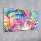 Glass Decor Print painting abstract pink colourful Fractal 100x50