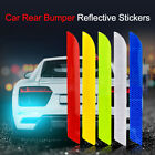 2pcs Car Reflective Strip Stickers Rear Bumper Night Safety Warning Decal Tape
