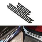 4PCS JEEP Carbon Fiber Car Door Welcome Plate Sill Scuff Cover Decal Sticker