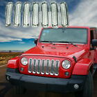 7PCS Clip in Front Insert Mesh Cover Grille Trim F Jeep Wrangler Sahara JK07 16
