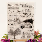 Christmas winter Transparent Clear Silicone Rubber Stamp Scrapbooking Card