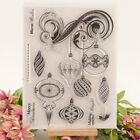 Christmas Ornaments Transparent Clear Silicone Rubber Stamp Scrapbooking Card