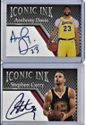 Stephen Curry Anthony Davis Iconic Ink Facsimile Autograph Cards