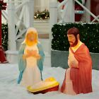 285 Lighted Outdoor Nativity 3 Pc Set Holy Family Large Christmas Display NEW