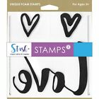 Stash FOAM STAMPS for Crafts Love Hearts