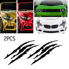2pcs 15Black Monster Claw Marks Decal Reflective Sticker For Car Headlight NEW