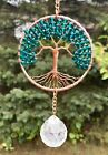 Crystal Sun Catcher Tree Of LifeGemstone Crystal Window Suncatcher Ornament