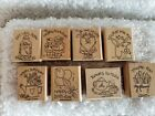 1996 Stampin Up NICE  EASY NOTES Rubber Stamps GET WELL Thanks BIRTHDAY Hooray