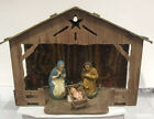 Vintage Nativity Set Christmas Manger Antique Germany Cardboard Creche Jesus